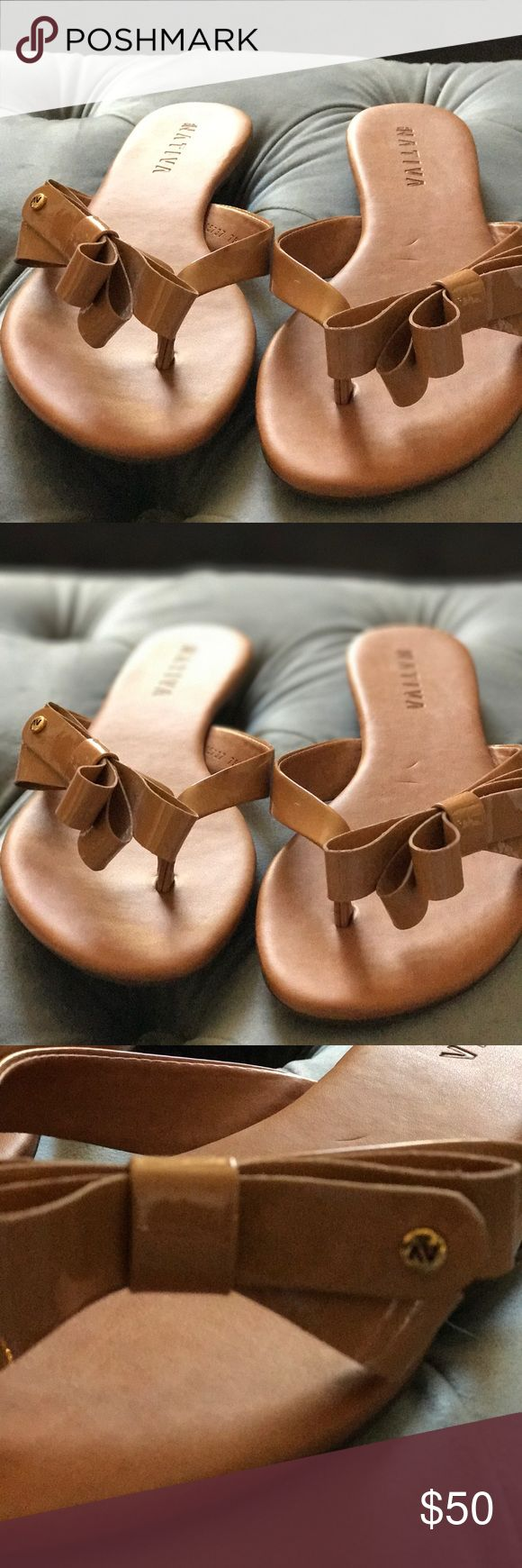 Native sandals Brazilian made dressy flip flops , patent leather with a bowl native Shoes Flats & Loafers