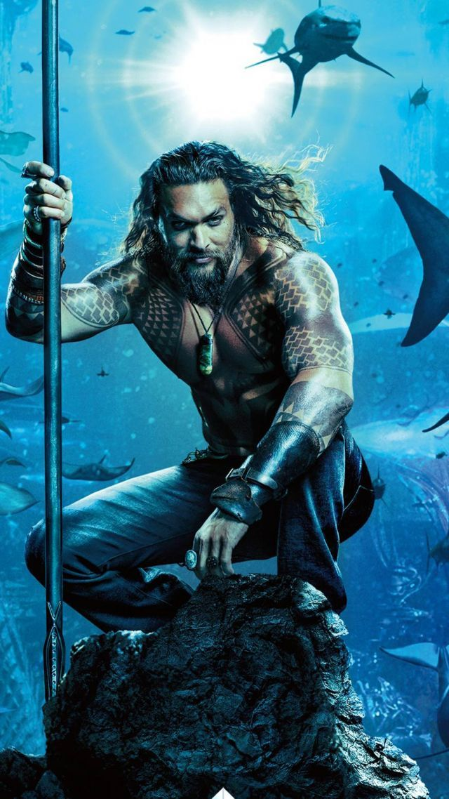 Aquaman, Jason Momoa, poster, 4K (vertical) | Handsome <3 in