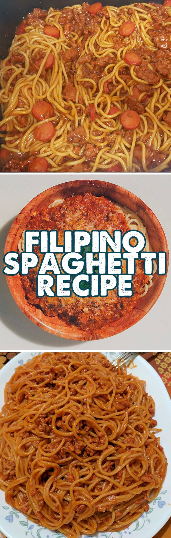 The Filipino Spaghetti Recipe is the Pinoy take on the Italian specialty, Spaghetti Bolognese which is sourer compared to our sweet style version. Some people find it odd that Pinoys put some sugar in this recipe but we Filipinos love sugar and we love dishes that are sweet.