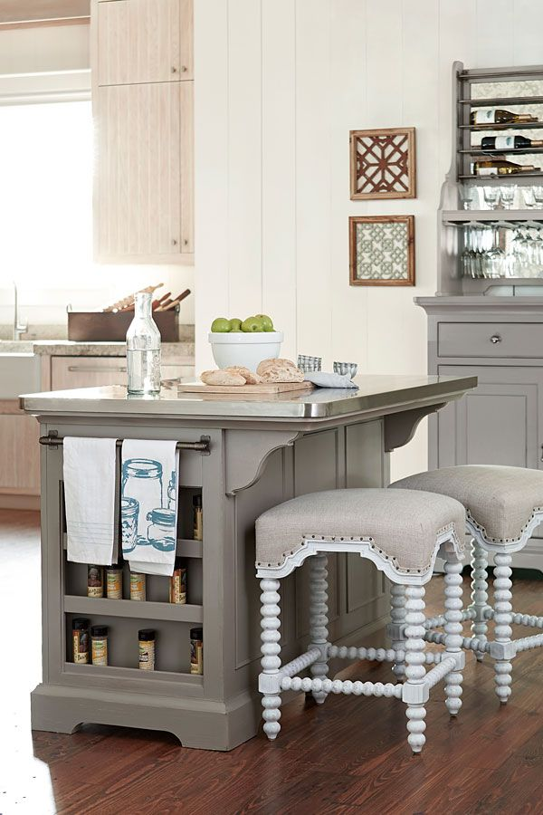 The Kitchen Island Is Part Of The Paula Deen Dogwood Collection The Island
