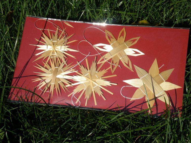 Weihnachtsdeko - Strohsterne im Set - ein Designerstück von Sternenmarkt bei DaWanda Mehr auf http://de.dawanda.com/shop/Sternenmarkt