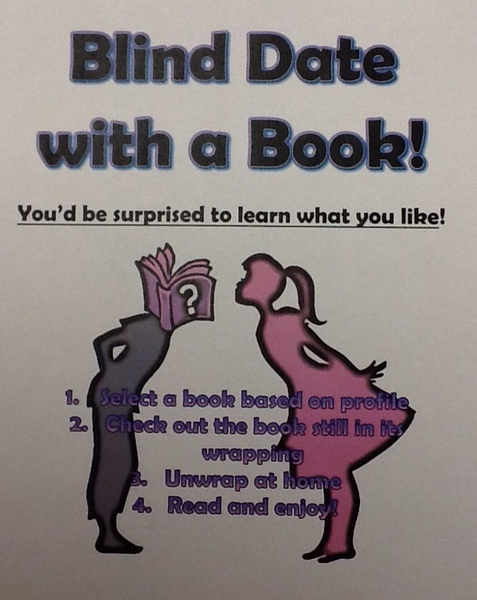 blind date with a book displays Library display: blind date with a book yep it's that time of year love is in the air red roses and cupids abound and it's time to pick up a blind date with a book.