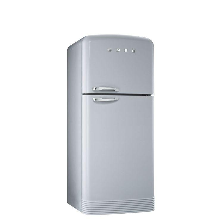Smeg FAB50X 50's Retro Style Silver Fridge Freezer