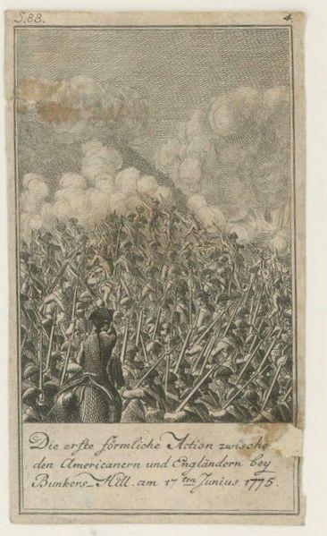 Bunker Hill 1784 Chodowiecki American Revolution