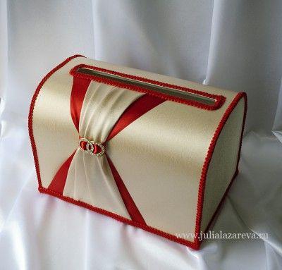 """Свадебный сундучок для денег """"Красное золото"""" #wedding #weddingdecor"""
