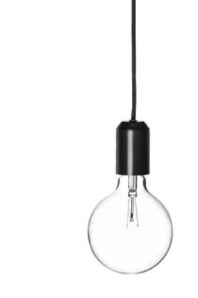 Clas Ohlsson big bulb and fabric lead <3