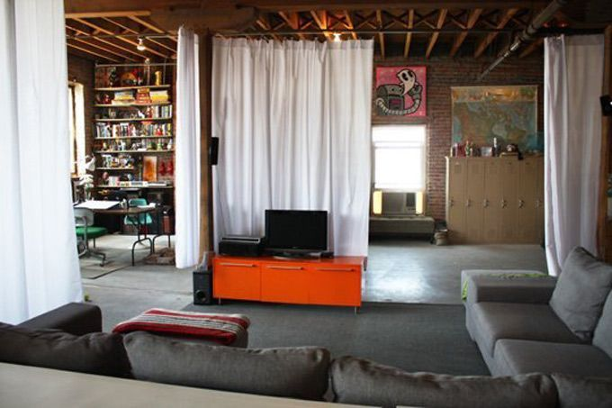 Cheap ways to divide space and decorate unfinished basement