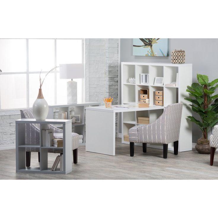 Hudson 16-Cube Shelf With Desk