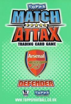 2010-11 Topps Premier League Match Attax #3 Gael Clichy Back