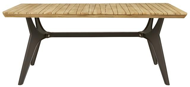 Calais Dining Table in Anthracite/Teak #globewest #contemporary #style #outdoor #furniture