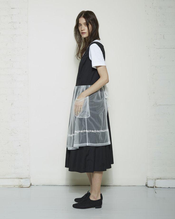 Comme des Garçons Shirt Girl / Embroidered Apron Dress