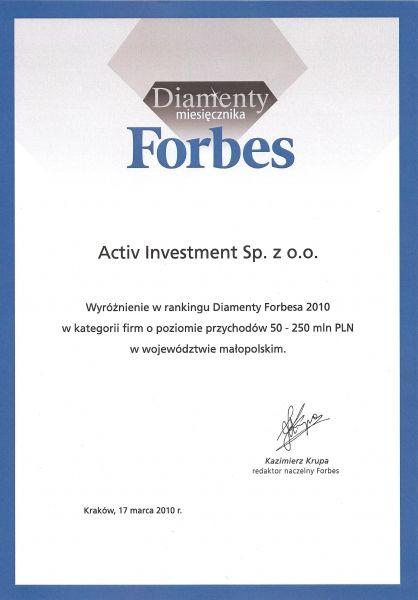 Activ Investment - nagroda