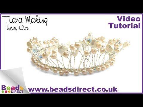 How to Make a Wire Tiara | Bridal Tiara Making | Make a Wedding Tiara - YouTube