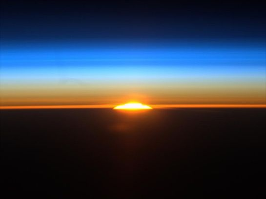 the rainbow, from dawn to dusk on ISS