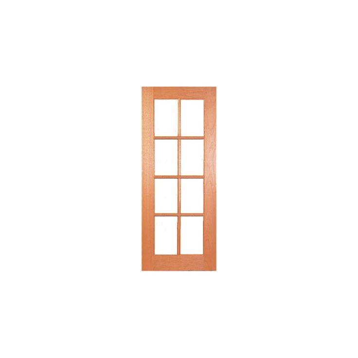 Woodcraft 2040 x 820 x 35mm 8 Lite Clear Safety Glass Internal Door
