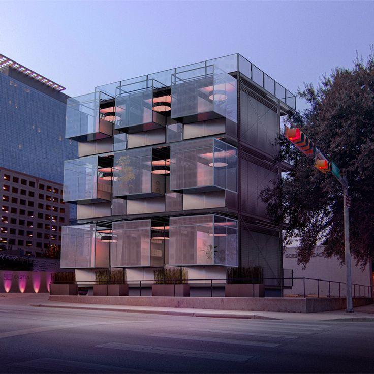 "Kasita unveils prefabricated tiny houses that slot into ""racks"""