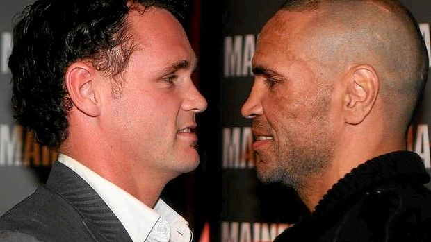 The other kind of Boxers in Australia: Anthony Mundine and Daniel Geale face off. #boxers #australia
