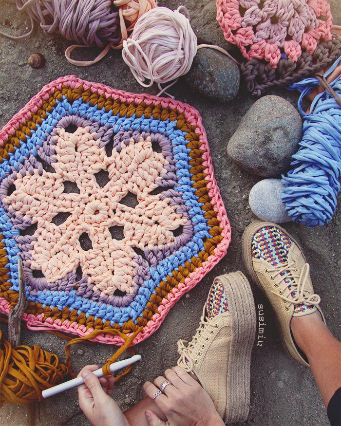 Flor en hexágono. www.susimiu.es