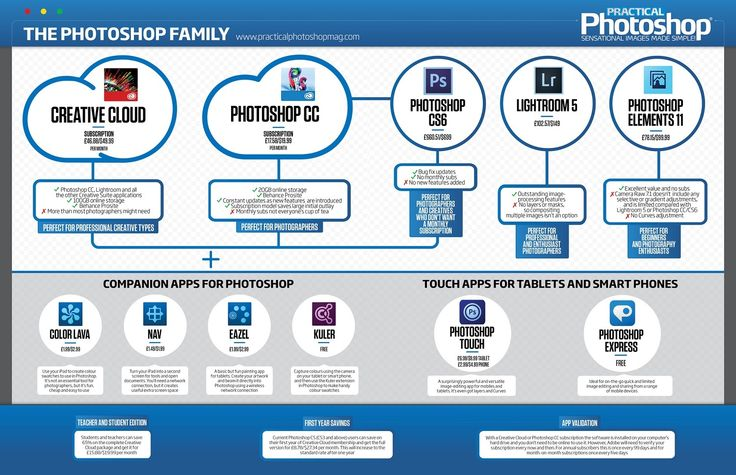 PhotoshopCC. Adobe family tree #Infographic