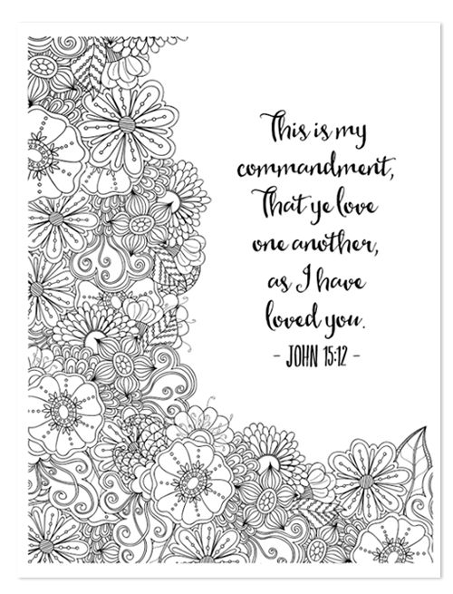 bible study learning to love week 1 part 2 - Free Printable Adult Coloring Pages 2