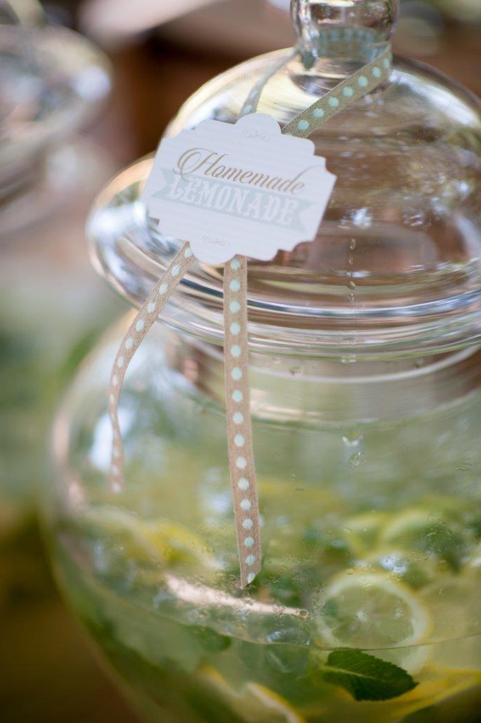 Glass decanter with fresh homemade lemonade! oh so refreshing