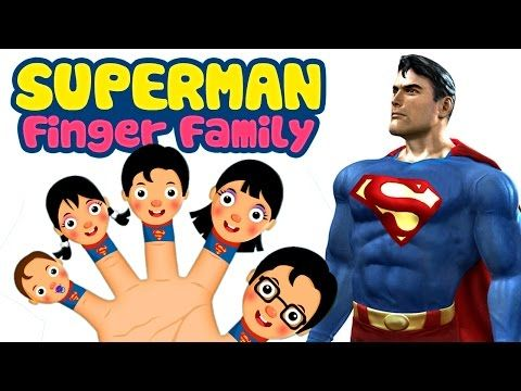 Superman Finger Family | Finger Family Nursery Rhymes | Kids Nursery Rhymes Collection - YouTube
