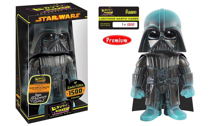 Bow down to one of the most powerful Sith Lords in the galaxy with the new Darth Vader Hikari Figure from Funko, third in the Star Wars series!