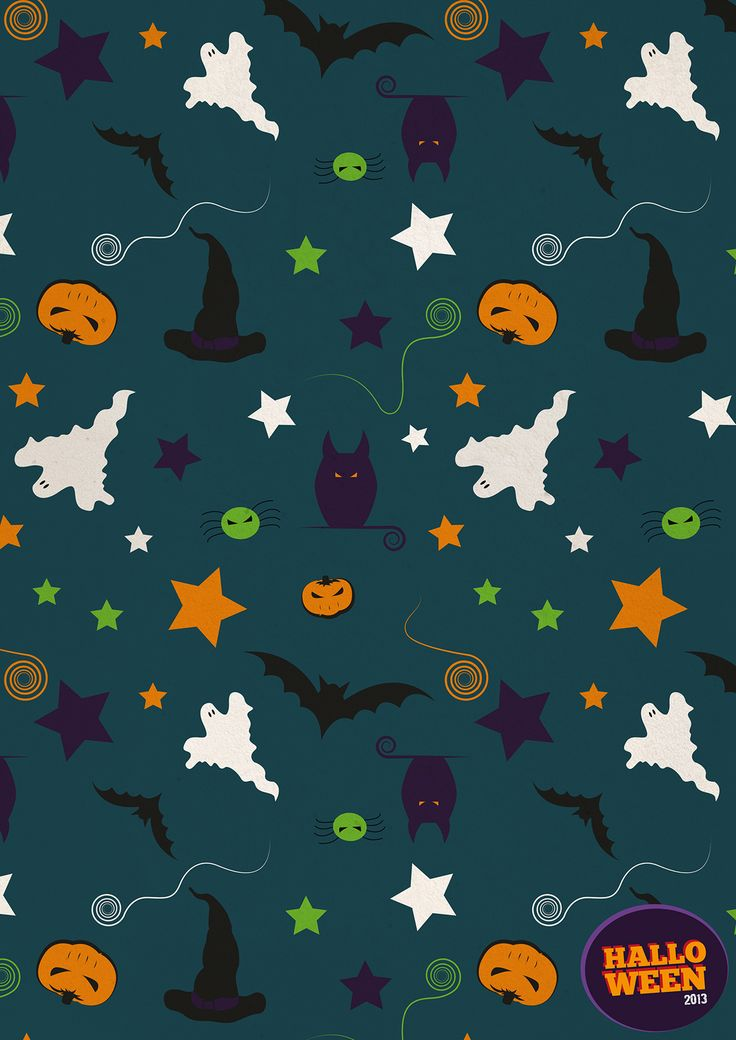 Happy Halloween Pattern #halloween #helloween #pumpikins #ghosts #ghost #pumpkin #star #stars #hat #witches #witch