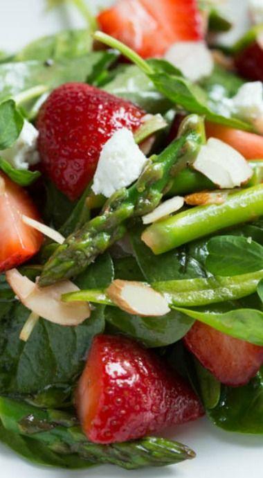 Asparagus Recipe | Strawberry, Spinach and Asparagus Salad