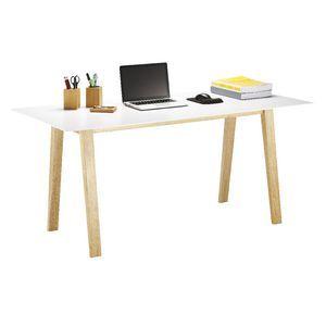 Linear Desk Oak and White