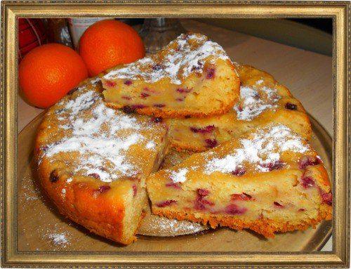 Брусничный пирог с апельсином.