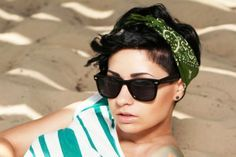 Want to get a new look for your short hair? Check out these 3 cute bandana hairstyles for short hair! Choose from pin up, rocker and rockabilly styles!