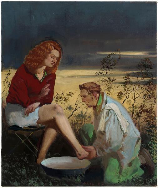 Neo Rauch (German painter, sculptor, born 1960 in Leipzig ...