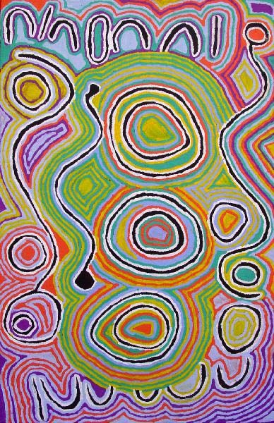 Mina Mina Jukurrpa (Mina Mina Dreaming) by Judy Napagardi Watson - Aboriginal art