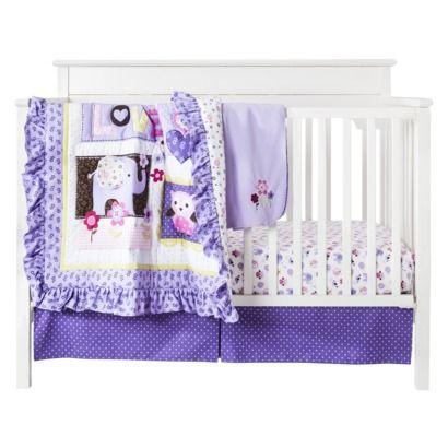 Sumersault Ellie Love  Piece Crib Bedding Set