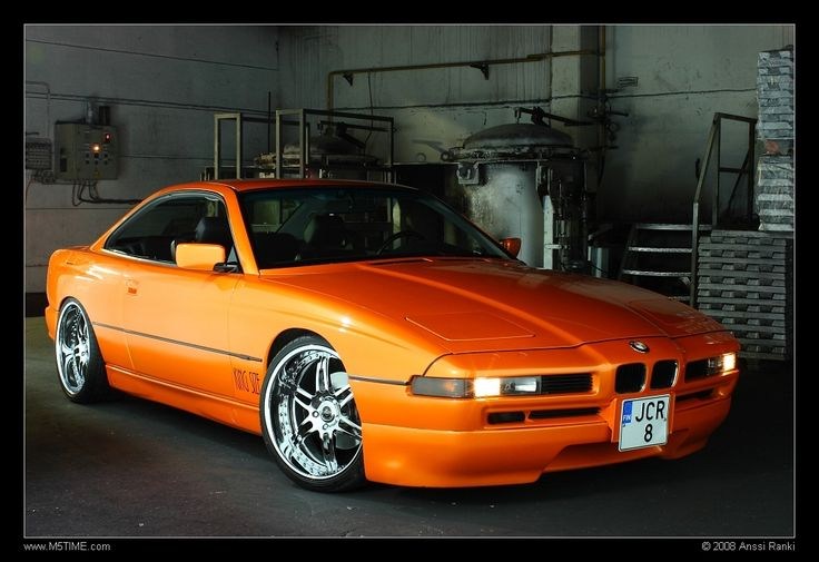 Bmw Orange 850 With Pimped Out Rims Bmw 8 Series