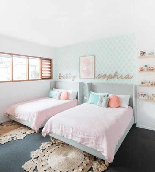 25 melhores ideias sobre quartos para duas meninas no for Cuarto ordenado y limpio