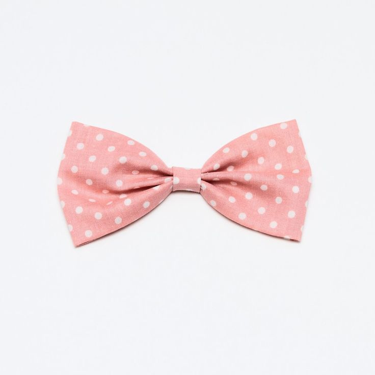 Pastel Pink Polk Dots - Medium Bow