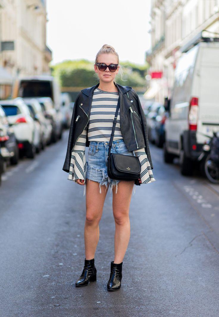 pantaloncini corti a vita alta perfetti con le righe
