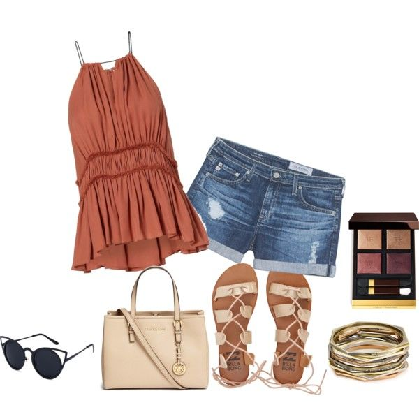 23 by vicinogiovanna on Polyvore featuring moda, AG Adriano Goldschmied, Billabong, Michael Kors, Kendra Scott and Tom Ford