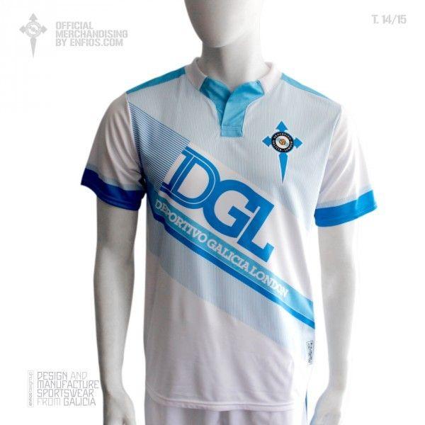 Official t-shirt DEPORTIVO GALICIA LONDON, season 2014/15.