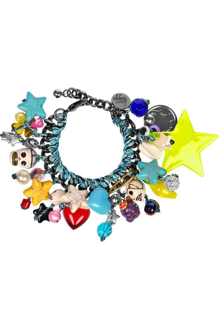 Tijuana gunmetal-plated charm bracelet by Venessa Arizaga