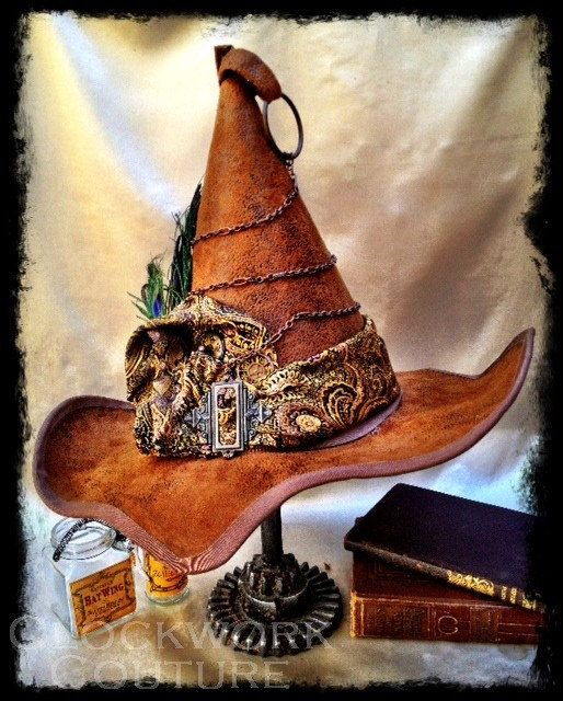 Love it!! - Professor McCOGnagall Steampunk Harry Potter Inspired Whimsical Witch's Hat for Costume, Halloween