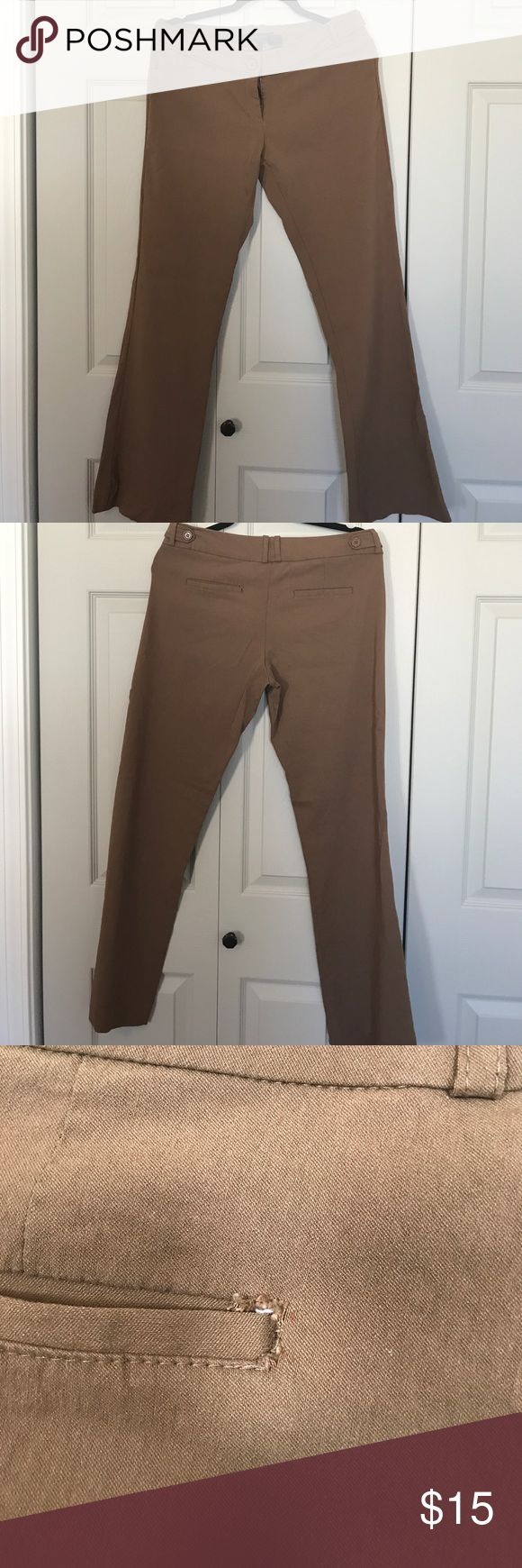Brown slacks Brown slacks  Left back pocket seam is starting to rip Not sure how to fix it. Pants Trousers