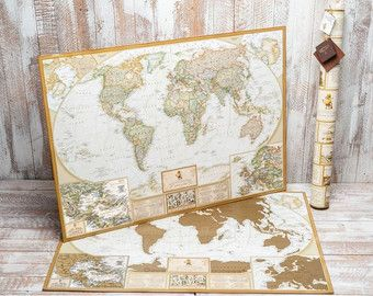 The 25 best world map with pins ideas on pinterest world map scratch off map personalized world travel map world map poster scratch off map poster personalized map small gift for a traveller gumiabroncs Image collections