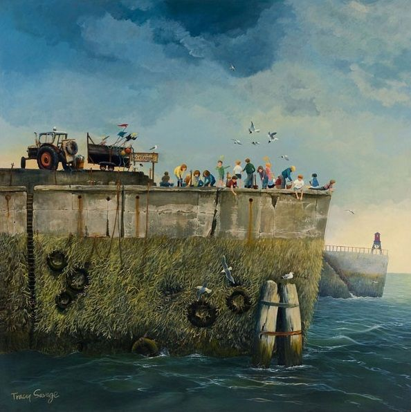 Tracy Savage, No Crabbing, Signed Limited Edition Print   Contemporary Art