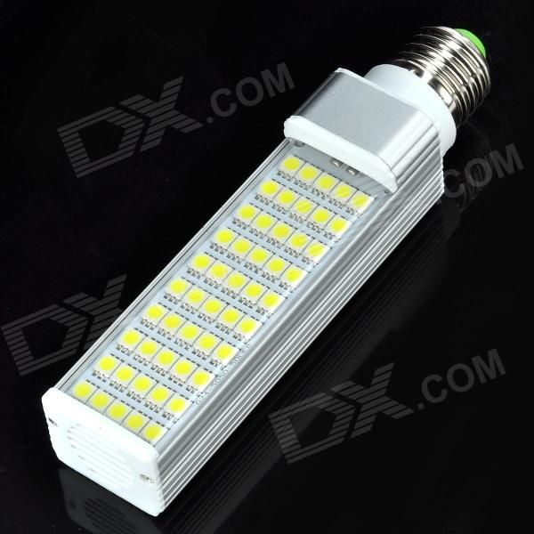 Color: Silver + White; Color BIN: White; Brand: No; Material: Plastic + aluminum; Quantity: 1 Piece; Power: 10W; Rated Voltage: AC 85-265 V; Connector Type: E27; Emitter Type: 5050 SMD LED; Total Emitters: 50; Actual Lumens: 750 lumens; Color Temperature: 6500K; Dimmable: no; Beam Angle: 180 °; Packing List: 1 x LED bulb; http://j.mp/1lkoYIo