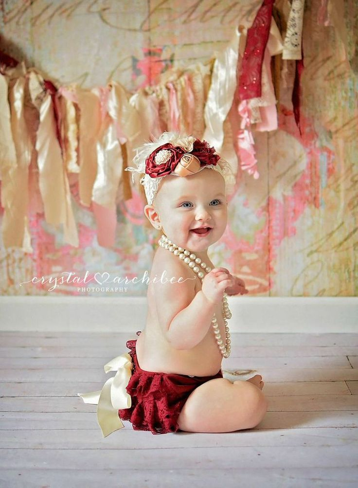 Burgundy Wine Ivory Lace Bloomer Set - Newborn Baby Toddler Diaper Cover Set - Cake Smash - Ava Madison Boutique