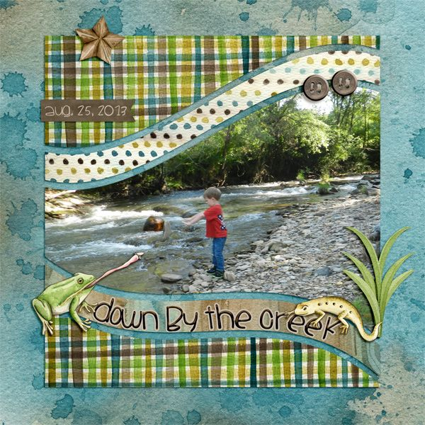 Digital Scrapbook Template - CU Wavy 1 | Scrapping with Liz                                                                                                                                                      More