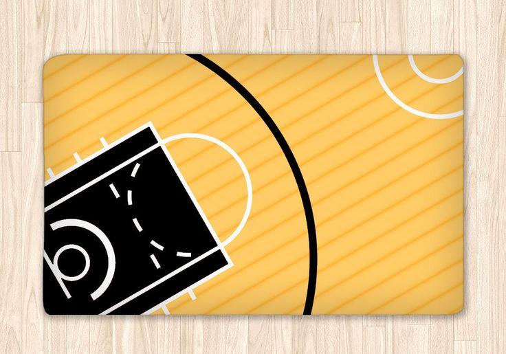 Custom Basketball Fuzzy Area Rug, Personalized